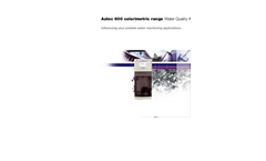 Aztec 600 Colorimetric Range Water Quality Analyzers - Influencing Your Potable Water Monitoring Applications Brochure