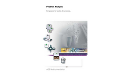 First for Analysis. For Power, For Water, For Process Brochure