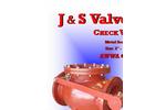 AWWA - Series 9000 - Metal Seated Swing Check Valve Brochure