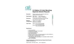 2.5 Gallon (10 Liter) - Benchtop Supreme Solvent Recycler Brochure