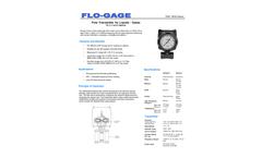 Product Datasheet Flow Transmitters W,X,Y,Z.- Brochure