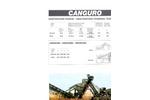 Model CANGURO - Mobile Secondary Unit Technical Datasheet