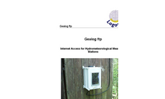 Logotronic - Gealog FTP - Internet Access for Hydrometeorological Measuring Stations Brochure