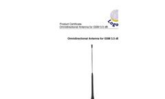 Logotronic - Omnidirectional Antenna for GSM 3.5 dB Brochure