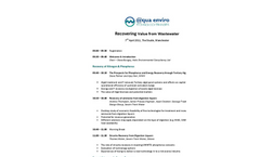 Programme:  Recovering Value from Wastewater