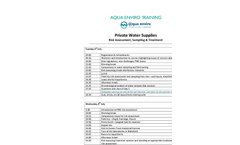 Private Water Supplies Timetable