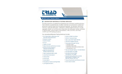 Laboratory Materials Testing Services Brochure