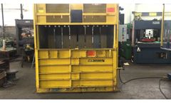 Used Ver-Tech Hydraulic Vertical Baler, #26625 - Video