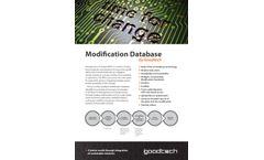 Goodtech - Modification Database Management Software  Brochure