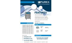 Purex - Model 200 - Fully Automatic Digital Fume Extractor  - Brochure