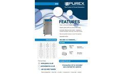 Purex - Model 200i - Fully Automatic Digital Fume Extractor  - Brochure