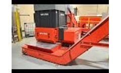 WEIMA WLK 10 Shredder for Disposable Food Packaging Recycling Video
