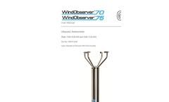 WindObserver - Model 75 - Heated Anemometer User Manual Brochure
