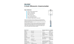 R3-100 - 3D - Professional Research Anemometer Datasheet