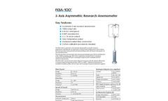 R3A-100 - 3D - Professional Research Anemometer - Asymmetric Head Datasheet