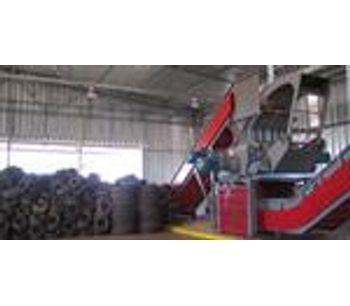 HARDEN - Model QS1016 - Tire Shredding & Recycling Equipment