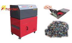 HARDEN - Model HDS300 - Mobile hard drive shredder