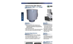 Model LQB Series 3 MPT - 12 - Lateral Access Filter Silencers Datasheet