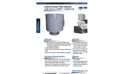 Model LQB Series 3 BSPT - DN300 Flg - Lateral Access Filter Silencer Datasheet