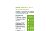 Linearity Testing Kits for Clinical Biochemistry Analysers - Brochure