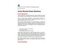 Arctic Remote Power Units - Brochure