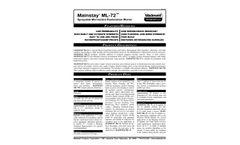 Madewell Mainstay - Model ML-72 - Sprayable Microsilica Restoration Mortar - Brochure