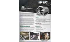 IPEC Model IFO - Internally-fed Rotary Screens - Brochure