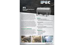 IPEC Model IFU - Internally-fed Rotary Screens - Brochure