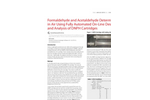 Formaldehyde and Acetaldehyde Determination in Air Using Fully Automated On-Line Desorption and Analysis of DNPH Cartridges
