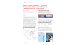 radiello™ Passive Sampler as a Tool for the Measurement of Atmospheric Ammonia Concentrations and Dry Deposition