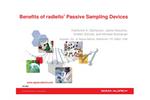 Benefits of radiello ®  Passive Sampling Devices