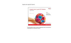 Supelco Ionic Liquid GC Columns Applications