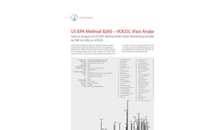 Fast GC Analysis of US EPA Method 8260 (Solid Waste/Ground Water Volatiles by P&T-GC-MS) on VOCOL