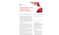 Reproducible Recoveries of Pesticides from Fruits and Vegetables