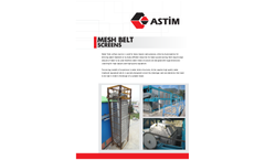 ASTIM - Model BND - BNC - BNT - Mesh Belt Screen - Brochure