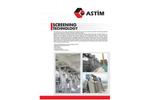 ASTIM - Model PRS - Pin-Rack Screens - Brochure