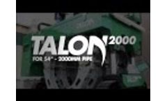 """McElroy Talon 2000 - for 54"""" OD to 2000mm OD pipe fusion Video"""