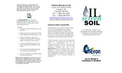 Cheiron OilScreenSoil - Model TPH - Field Screening Test Kits for Soil, Water and Solid Surfaces - Brochure