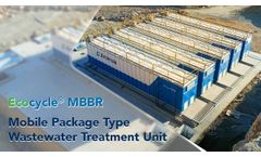 Ecocycle MBBR Mobile Package Type Wastewater Treatment Unit