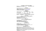 AquaSorp Isotherm Generator - MSDS Indicating Drierite Brochure