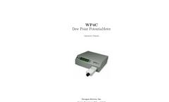 Decagon - Model WP4C - Dew Point Potentia Meter User Manual