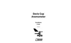 Anemometer Manual Brochure