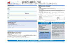 Corporate Water Scarcity Risk Management 2010 - Exhibitor Booking Form