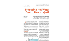 48 www.aiche.org/cep May 2010 CEP  Back to Basics  Inline direct steam injection is more energy ef? cient  than indirectly heating water in a tank. U