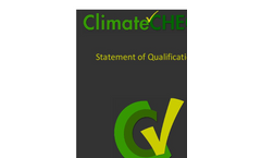 ClimateCHECK-Statement of Qualifications Brochure