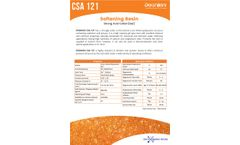Doshion - Model CSA 121 - Strong Acid Cation Gel Softening Resin - Brochure