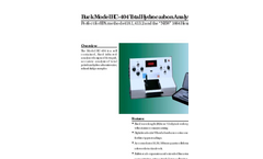 Buck Model HC-404 Total Hydrocarbon Analyzer Brochure