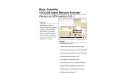 410 Cold Vapor Mercury Analyzer Brochure