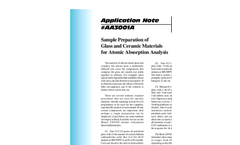 AA3001 Sample Preparation of Glass and Ceramic Materials for Atomic Absorption Analysis - Application Notes