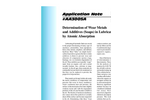 AA3005 Determination of Wear Metals and Additives (Soaps) in Lubricating Oils by Atomic Absorption - Application Notes
